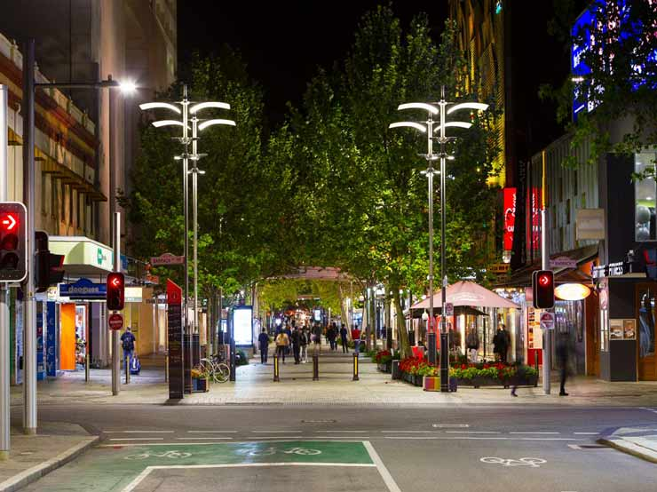 Perth City Malls lighting upgrade 2