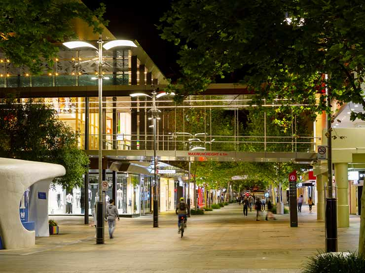 Perth City Malls lighting upgrade 1